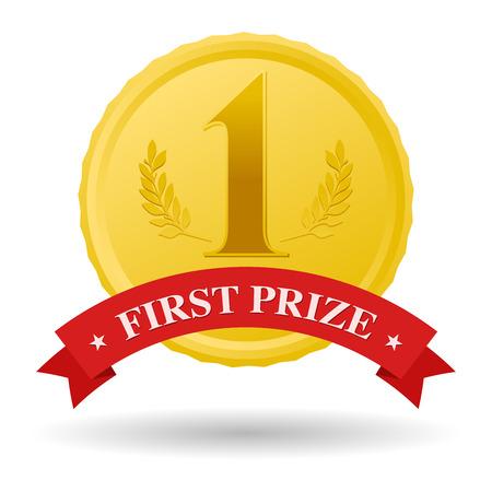 primer premio: primera medalla de oro del premio y la bandera roja