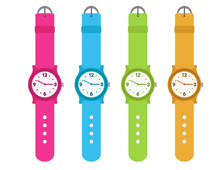 set of four kids watches