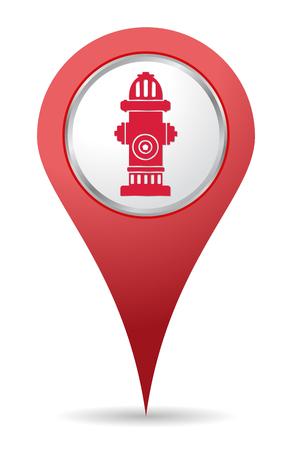 borne fontaine: icône d'emplacement de Bouche rouge pour les cartes Illustration
