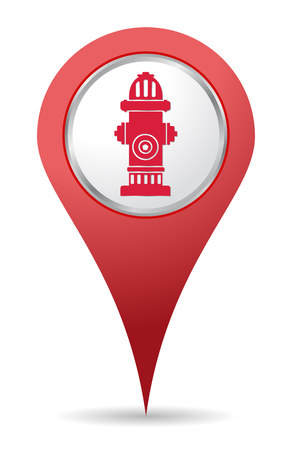 safe water: red Hydrant location icon for maps