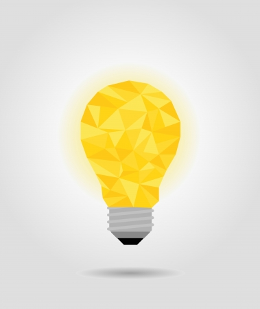 yellow idea bulb, imagine concept Vectores