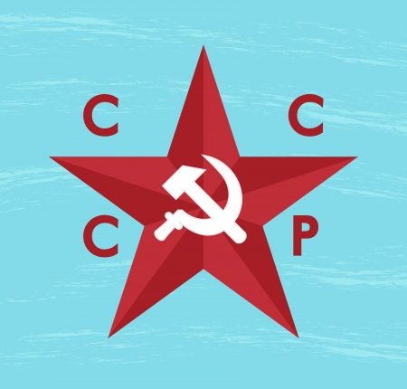 blue grunge background with cccp star Stock Vector - 24366516