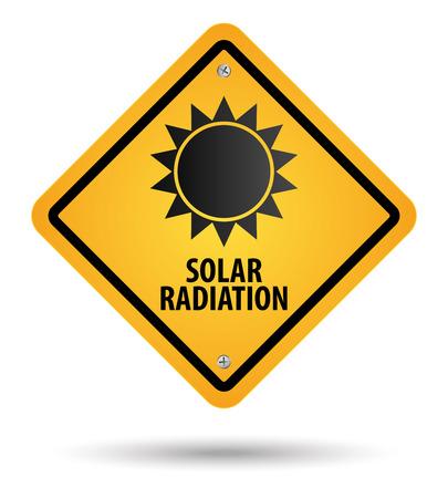 노란색 태양 방사선 기호, 위험