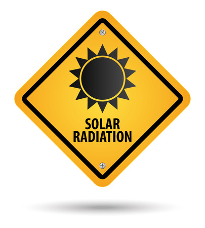 yellow solar radiation sign, danger Stock Vector - 27529181