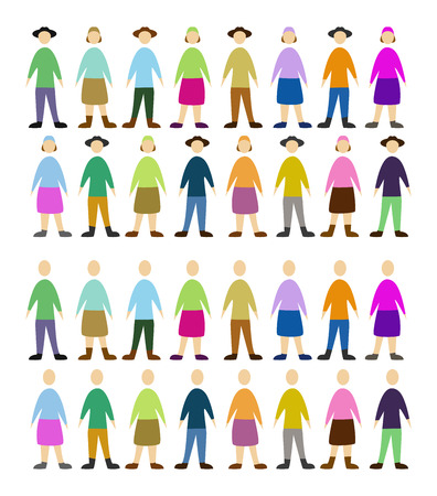 set of color people, community Vector