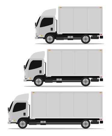 truck cargo set three models