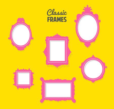 Satz von klassischen Rahmen Silhouetten Standard-Bild - 28558551