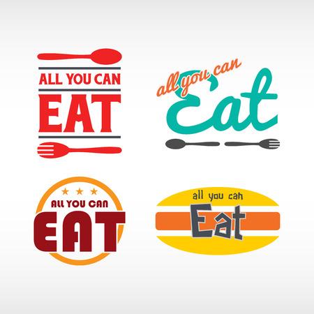 all you can eat logos Vector