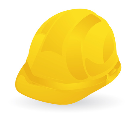 construction equipment: yellow construction helmet, safety first