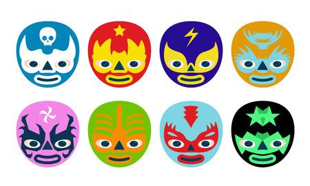 trajes mexicanos: Color de los luchadores mexicanos enmascaran para los niños