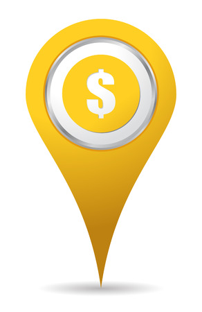 location money icon with sign Vector