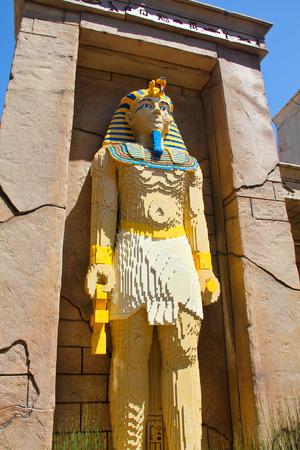 CARLSBAD, California USA- APRIL 2014: Legoland California Pharaoh