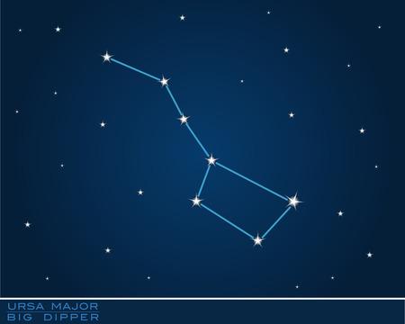 ursa major, big dipper constellation Vector