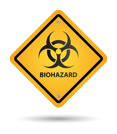 toxic substance: biohazard yellow sign, danger zone Illustration