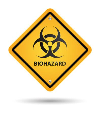 riesgo quimico: señal amarilla de riesgo biológico, zona de peligro
