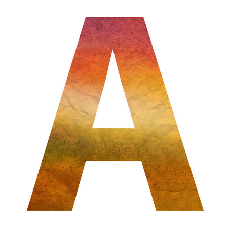 warm colors: A texture letter with warm colors Stock Photo