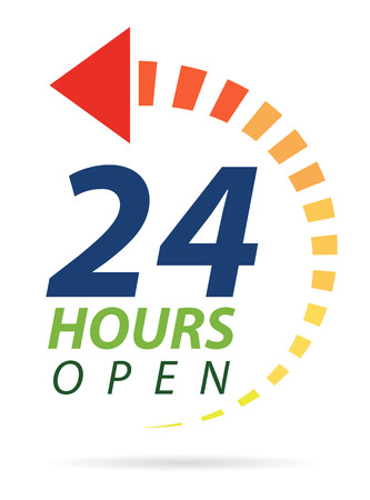 Vivid color 24 hours icon