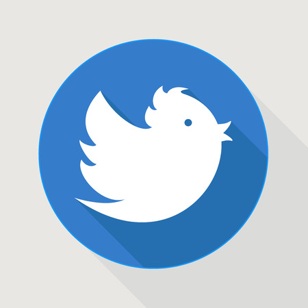 Flying Blue twitter vogel Stock Illustratie