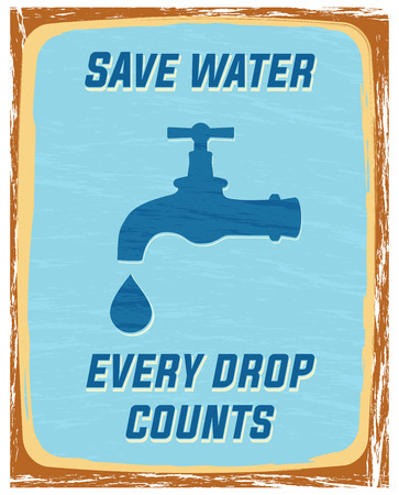 save water, every drop counts poster