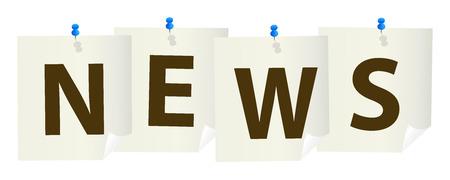 pushpins: signo noticias chincheta con chinchetas azules