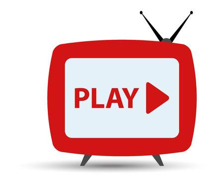 TV na żywo monitorować sieci Ilustracje wektorowe