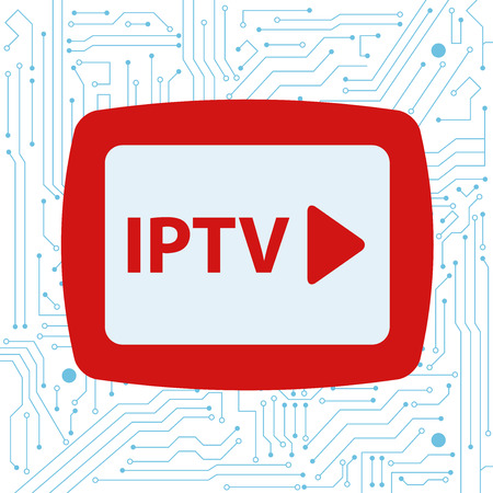 iptv: iptv concept with integrated circuits