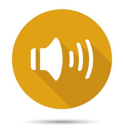 audio: Orange audio icon with shadows