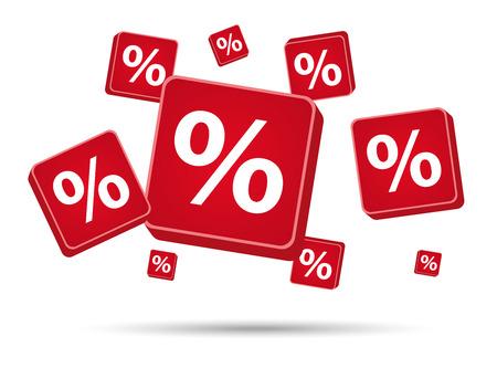 procent tekenen in rode kleur