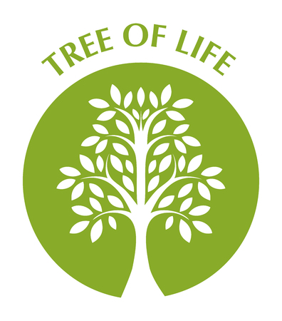 huge tree: tree of life in green circle
