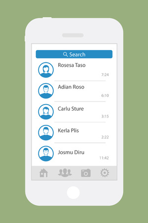 screen: smartphone chatting sms app screen