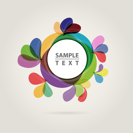 abstract: abstract color circle, place your text Illustration