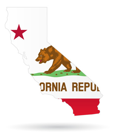 state: California State Flag with maps