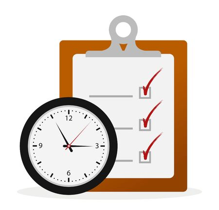 stop time: Timing Concept, Check List Board and Clock