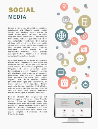 social media page, media post