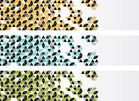 vector background: Banners with color triangles Illustration