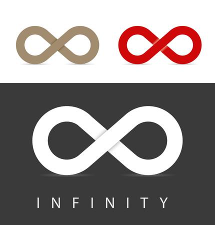 signo de infinito: símbolos del infinito conjunto en tres colores