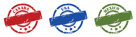 canada stamp: Rubber stamps north america, canada mexico, usa