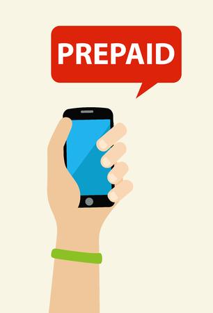 Hand holding a prepaid phone
