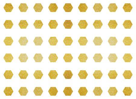 heavy metal: Golden metallic polygon shape tile