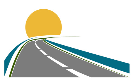apved road transportation theme with sun