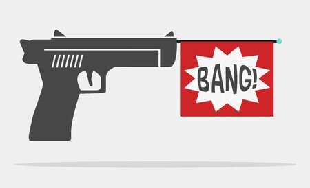 fun message gun for advertise Illustration