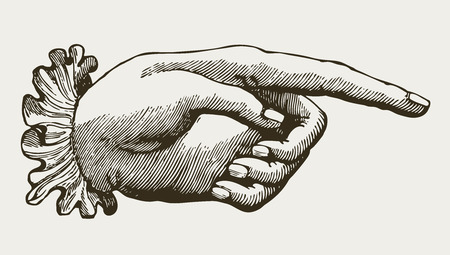 Vintage Lady Hand, victorian style 일러스트