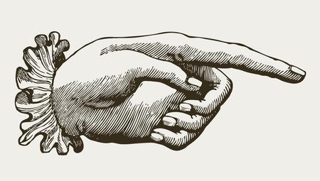 the finger: Vintage señora mano, de estilo victoriano