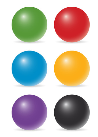 color balls: set of six color balls
