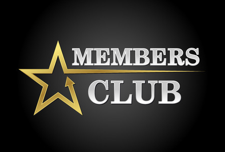 Members club, exclusive access in gold and silver 矢量图像