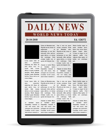 device: Digital News Concept, electronic device information Illustration