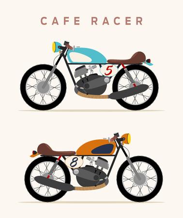 scrambler: Vintage motorcycle, cafe racer style
