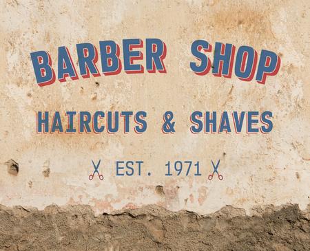 barbershop: Barber sign on grunge wall