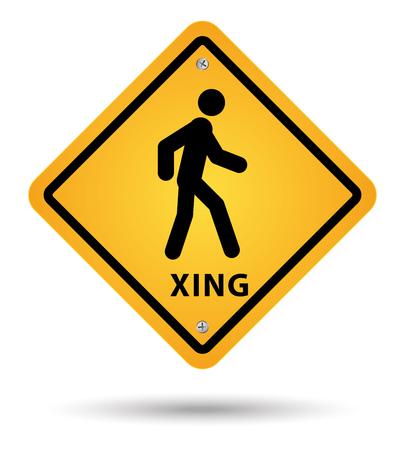 paso de peatones: Xsing, camino, señal, peatón