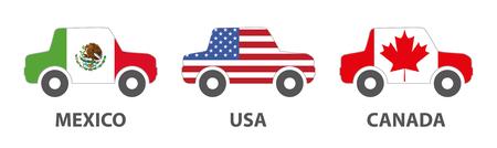 nafta: Mexico usa canada car trading in north america